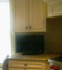 kitchen television placement