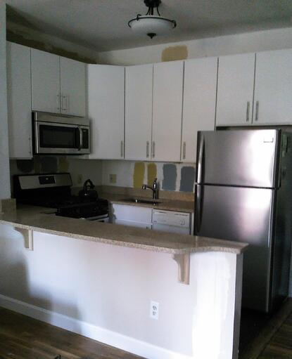kitchen before & after photo
