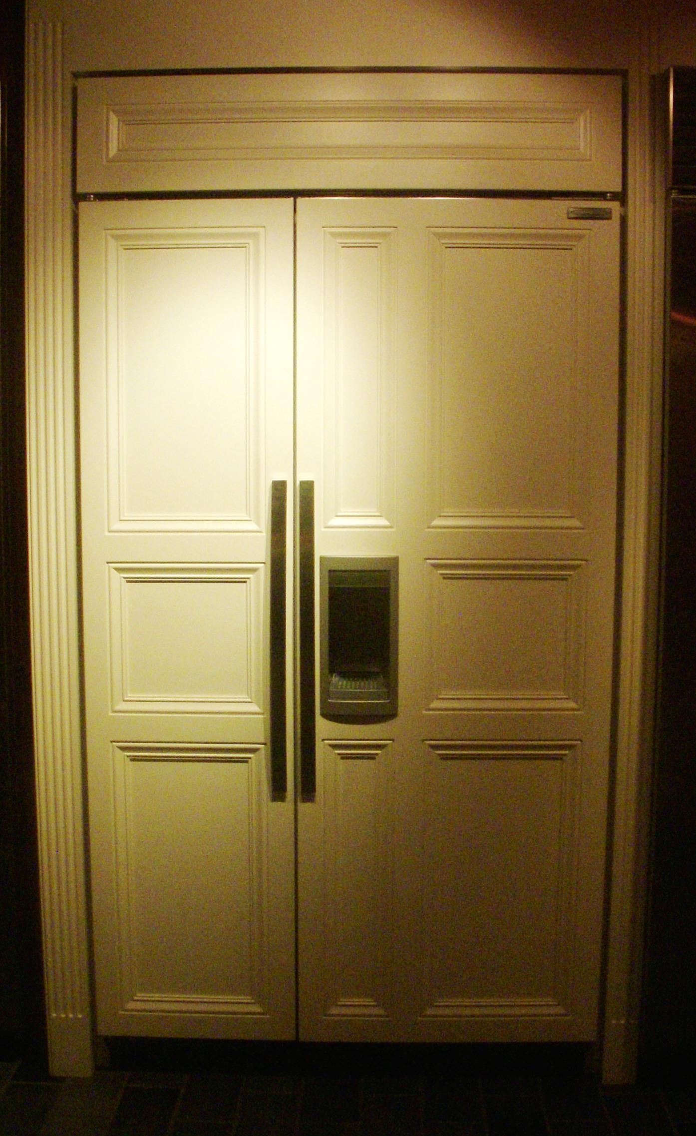 panelled refrigerator