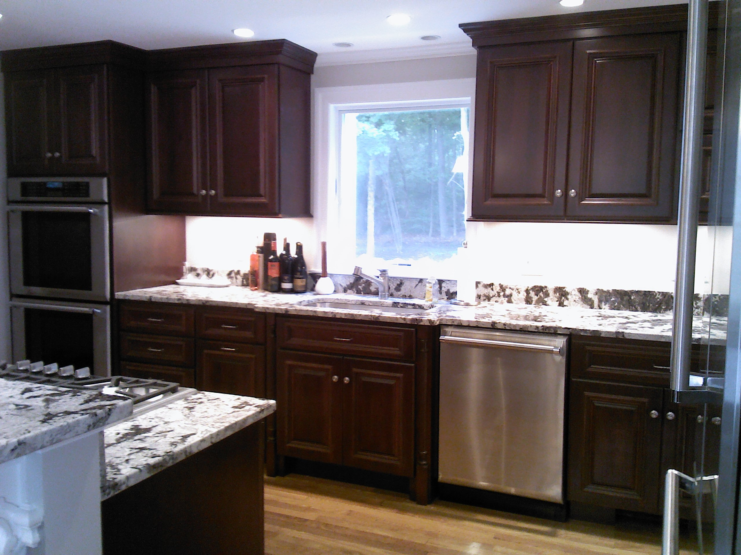 Kitchen remodel before after 7 for Royal mahogany kitchen designs