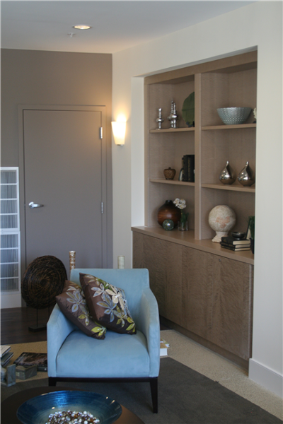 As specified by the architect, Edesia provided the fitted cabinetry.