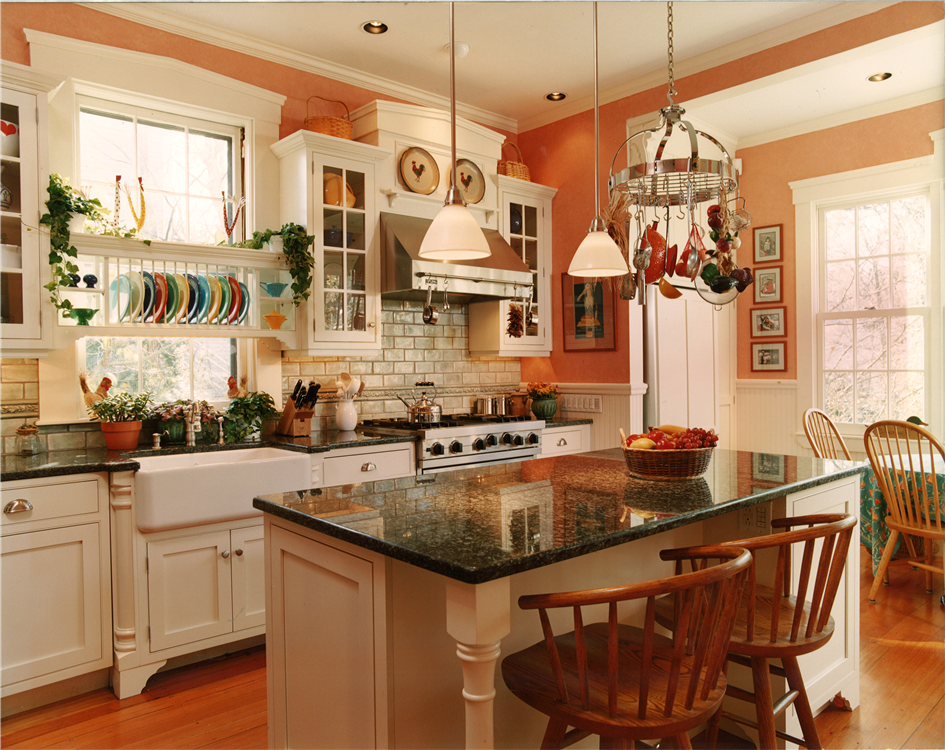 White painted inset cabinetry