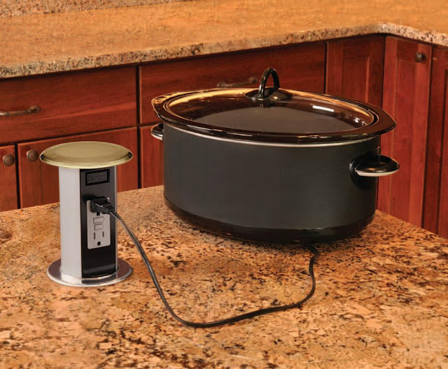 Kitchen Island Electrical Outlets - Pop up electrical outlets for kitchen islands