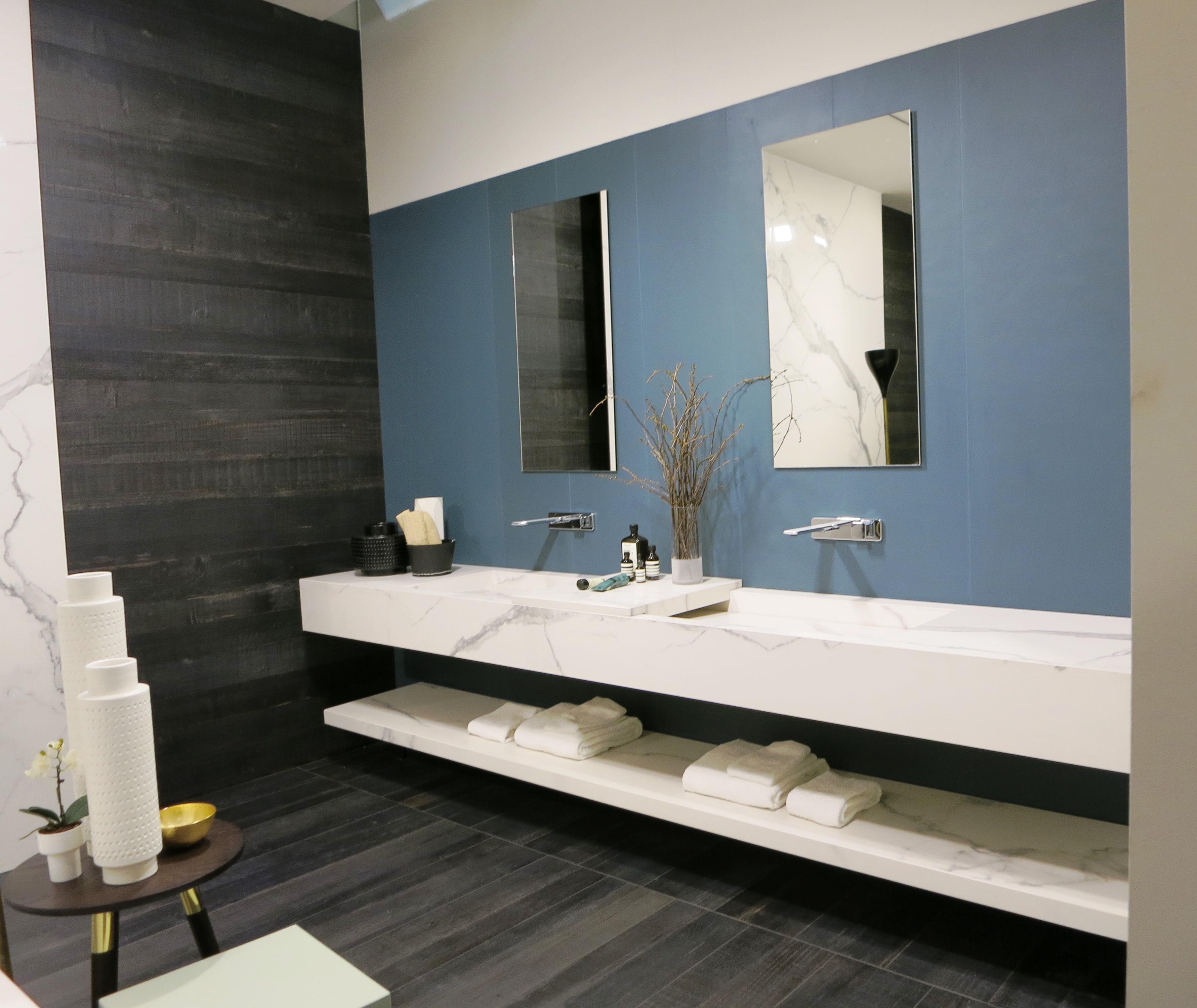 contemporary marble bath vanity