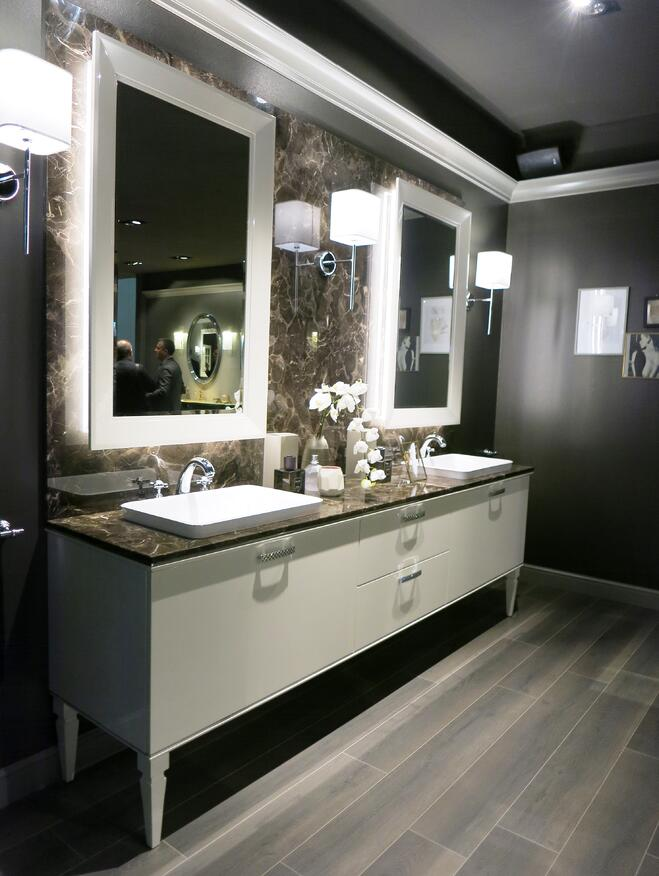 classy double bowl vanity