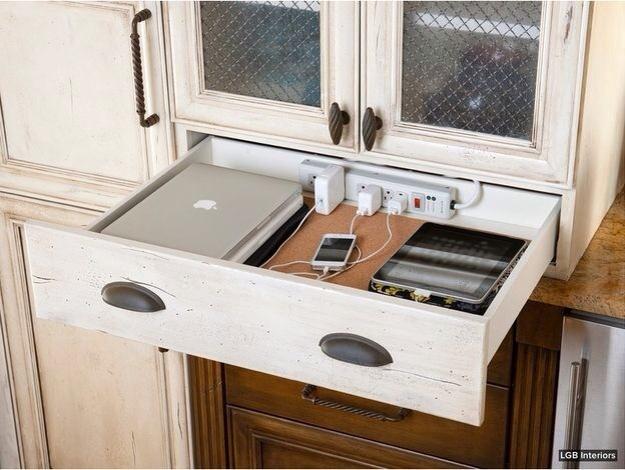 kitchen charging station