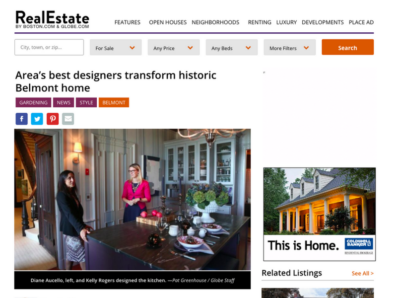 Edesia's Newest Kitchen Renovation Featured in Boston Globe