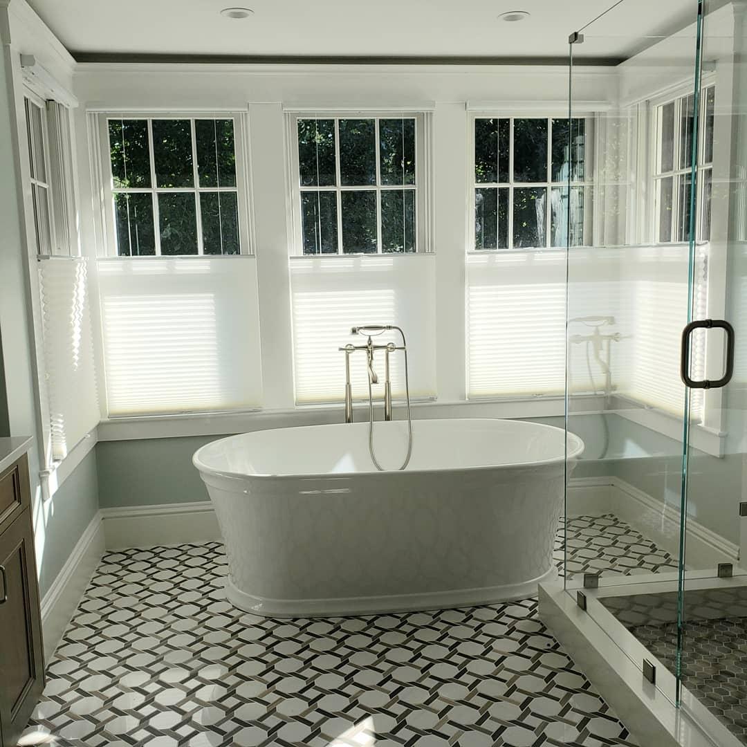 Luxury Master Bath Updates Historic Weston Home