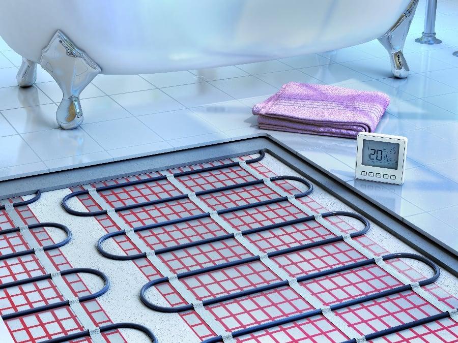 Bathroom Floor Designs for Warm Feet All Year Long